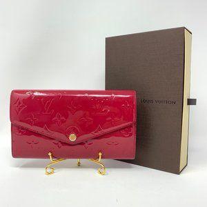 Louis Vuitton Monogram Vernis pink wallet